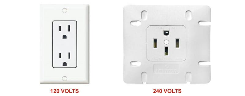 La différence entre 120 volts et 240 volts